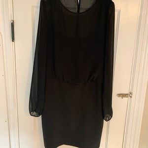 Banana Republic - Sheer Overlay Dress - Black